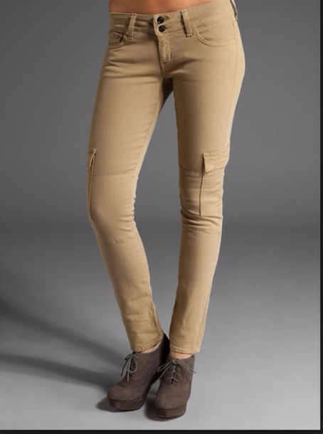 jeans khaki skinny cargo pants