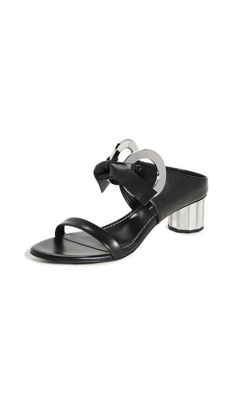 Proenza Schouler Front Tie Mule Sandals in black