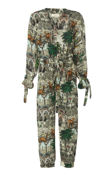 Chufy Jamal Printed Jumpsuit Size: L in green