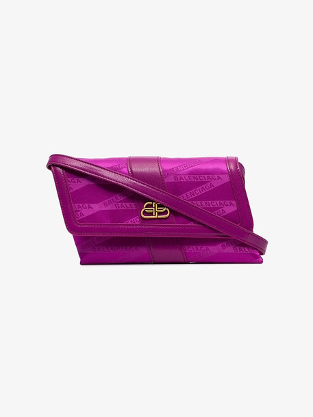Balenciaga Pink Shift monogram cross-body bag