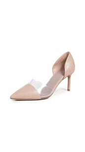d'orsay pumps,love,pumps,clear,nude,shoes