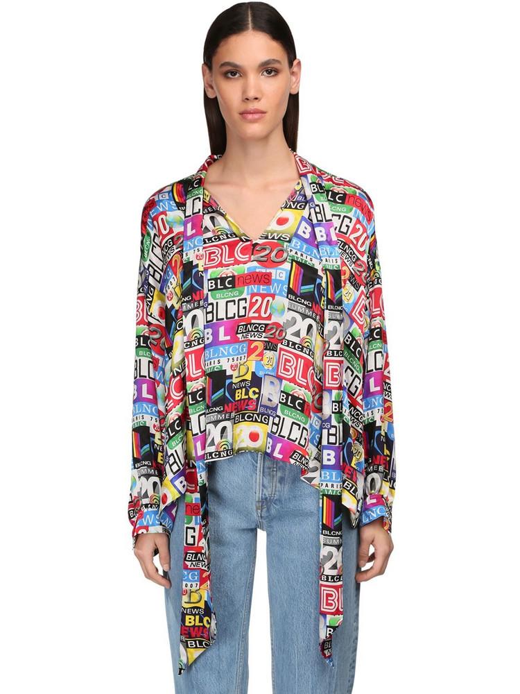 BALENCIAGA Vareuse Printed Jacquard Shirt