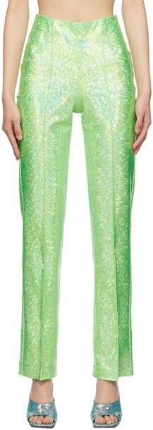 Saks Potts Green Shimmer Lissi Trousers
