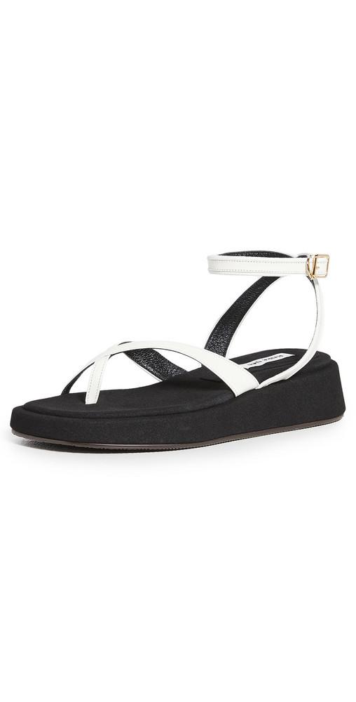 Reike Nen X Ankle Strap Platform Sandals in white
