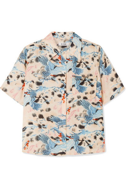 RE/DONE - Printed Voile Shirt - Blue