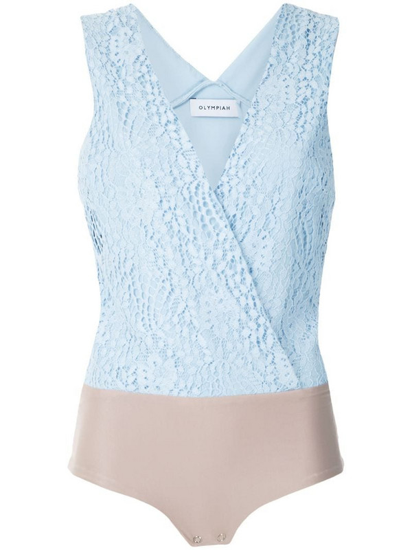 Olympiah Petale lace body in blue