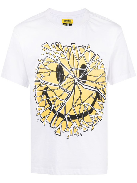 Chinatown Market Glass Smiley cotton T-shirt in white