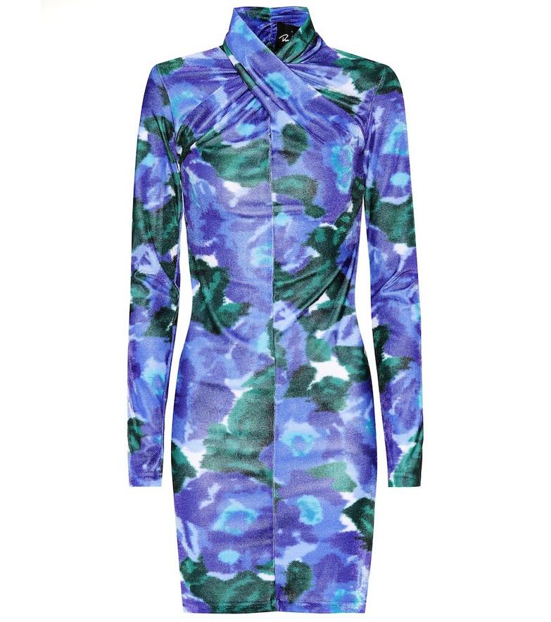 Richard Quinn Floral velvet minidress in purple