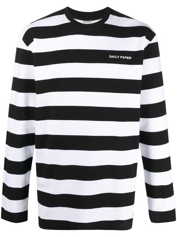 Daily Paper striped sweatshirt in black