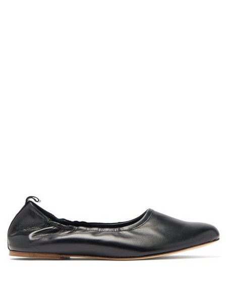 A.P.C. A.p.c. - Rosa Elasticated Leather Ballet Flats - Womens - Black