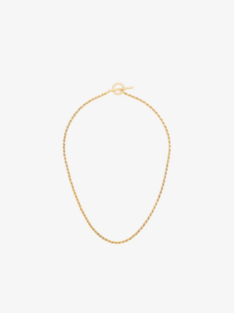 All Blues rope chain necklace in gold