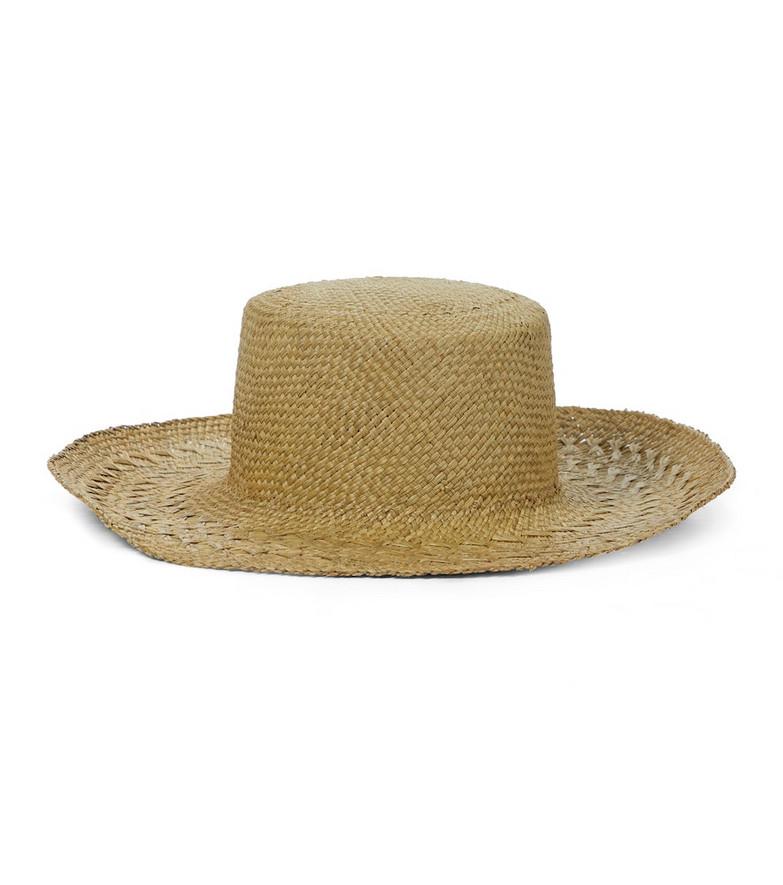 Saint Laurent Honolulu straw hat in beige