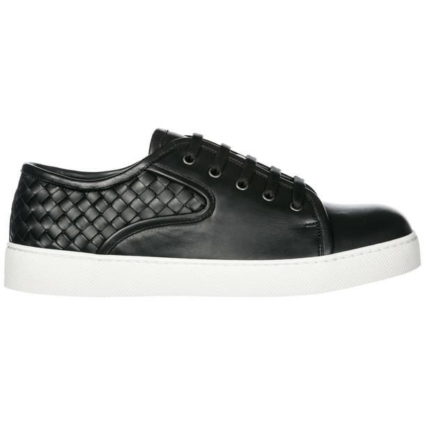 Bottega Veneta Men's Shoes Leather Trainers Sneakers Dodger in nero