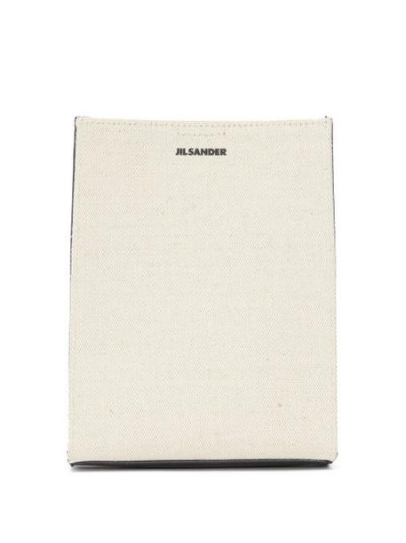 Jil Sander - Tangle Small Canvas Cross-body Bag - Womens - White Multi
