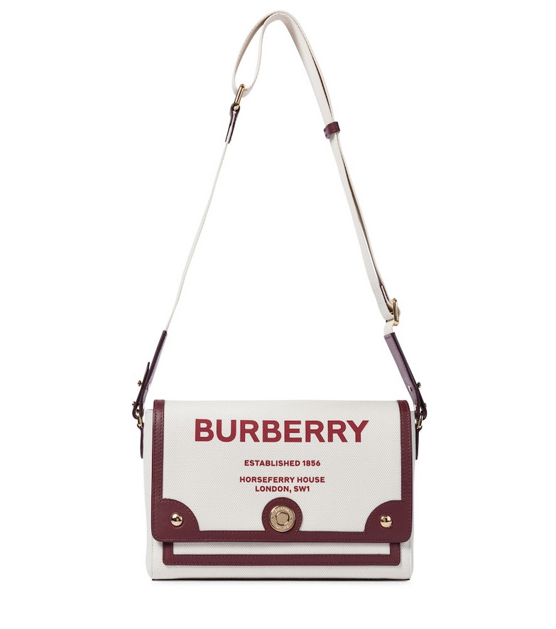 Burberry Horseferry Small canvas shoulder bag in beige