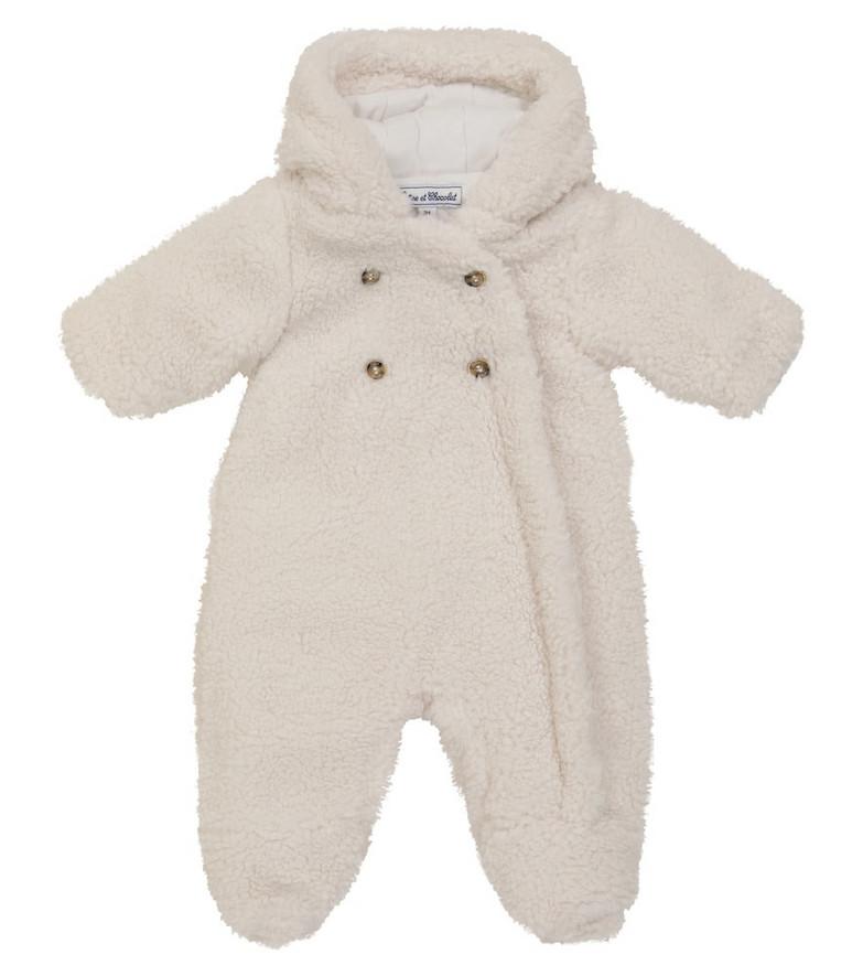 Tartine et Chocolat Baby faux shearling jacket in white