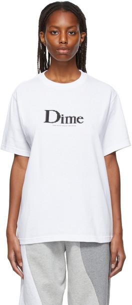 Dime Classic Screenshot T-Shirt in white