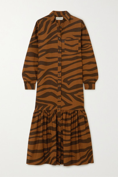 Mara Hoffman - Net Sustain Freda Tiger-print Organic Cotton Maxi Dress - Brown