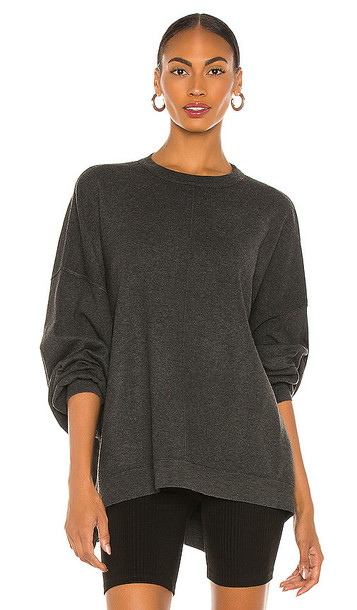 Free People Uptown Pullover in Charcoal