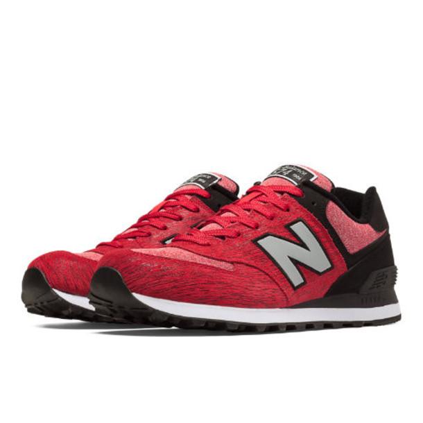 New Balance 574 Sweatshirt Men's 574 Shoes - Red, Black (ML574TTB)