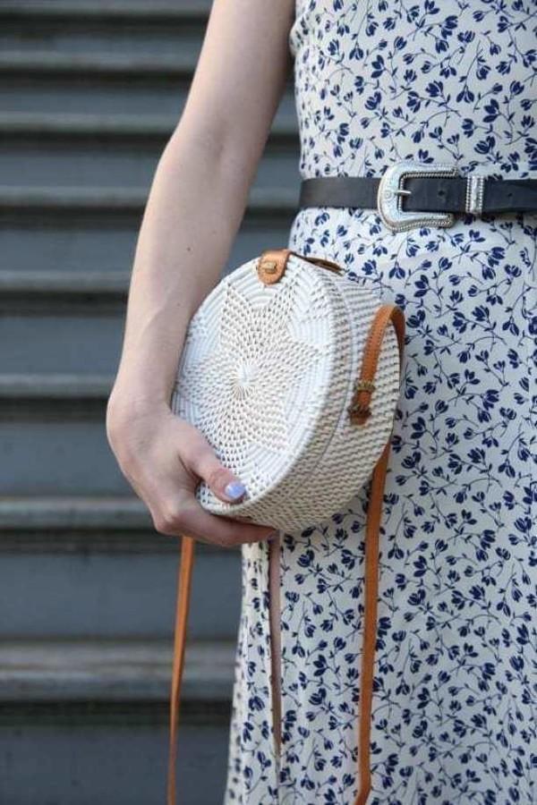 bag rattan bag straw bag fall outfits white christmas boho fall