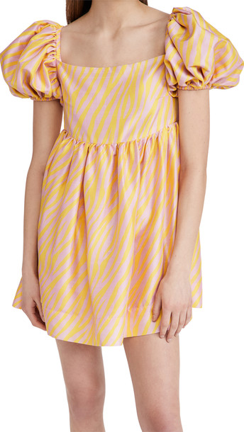 Azeeza Kam Zebra Dress in pink / yellow
