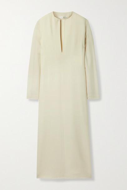 THE ROW - Simona Wool-twill Maxi Dress - Cream