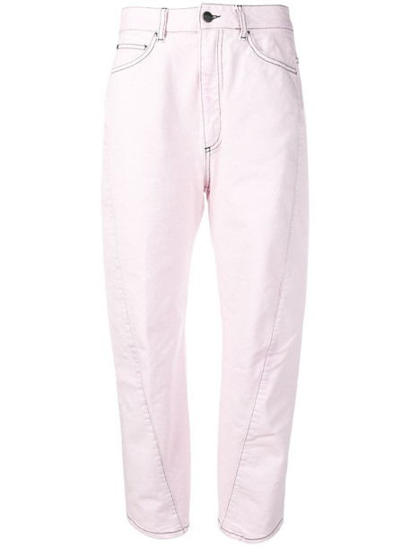 Palm Angels curved seam jeans in purple