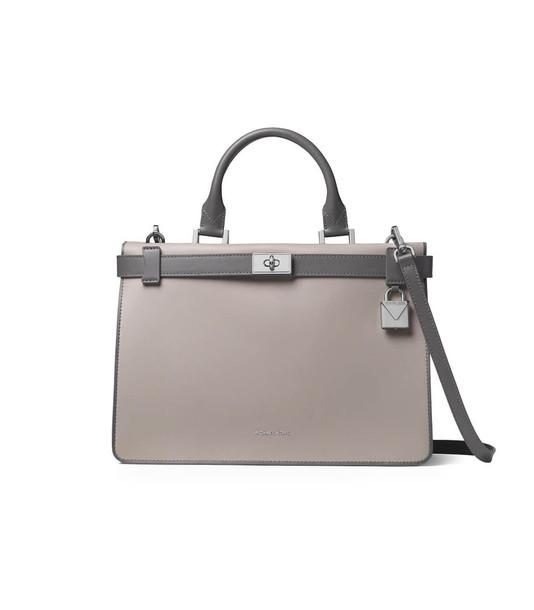 Michael Kors Grey Tatiana Medium Satchel Bag