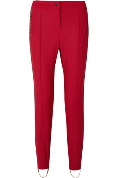 Fendi - Roma Jacquard-trimmed Stirrup Ski Pants - Red