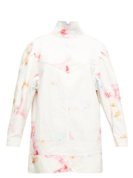 Isabel Marant - Ervalia Tie-dye Denim Mini Dress - Womens - Ivory Multi