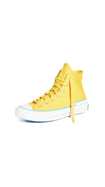 Converse Chuck 70 Hacked Heel High Top Sneakers in yellow