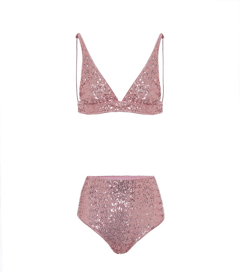 Oséree Exclusive to Mytheresa – Paillettes bikini in pink