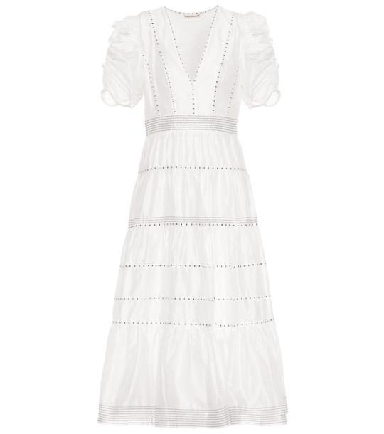 Ulla Johnson Odile cotton and silk dress in white