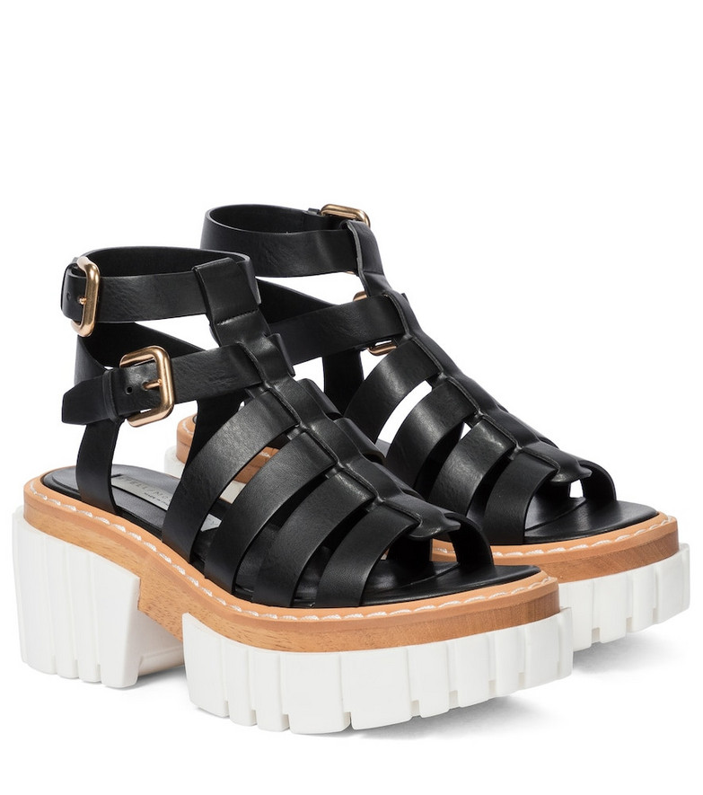 Stella McCartney Emilie faux leather platform sandals in black