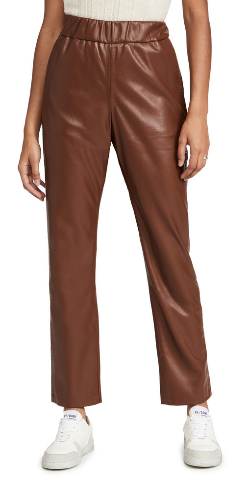 ANINE BING Colton Track Pants in brown