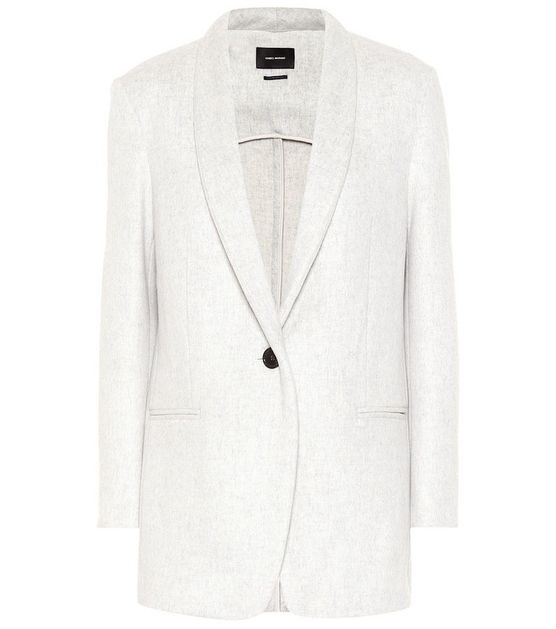 Isabel Marant Felicie wool and cashmere blazer in grey