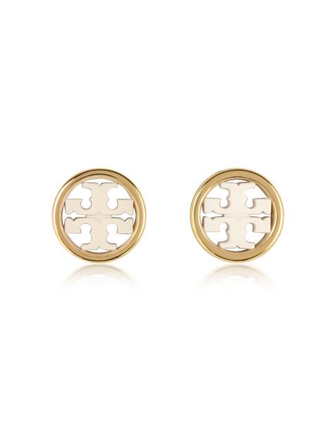 Tory Burch Miller Circle-stud Earrings in gold