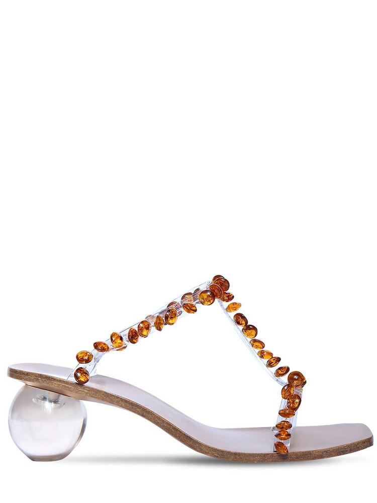 CULT GAIA 55mm Clio Embellished Pvc Sandals in transparent