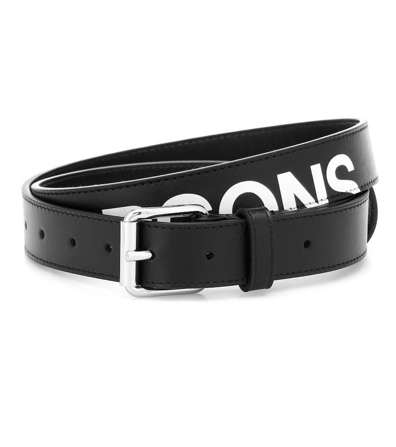 Comme Des Garçons Wallet Huge logo leather belt in black