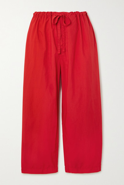Comme des Garçons GIRL - Cropped Shell Straight-leg Pants - Red