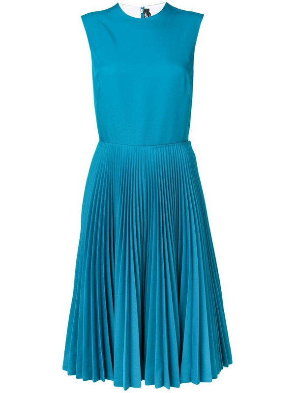 Calvin Klein 205W39nyc sleeveless pleated dress in blue