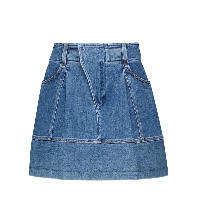 Chloé Stretch-denim miniskirt in blue