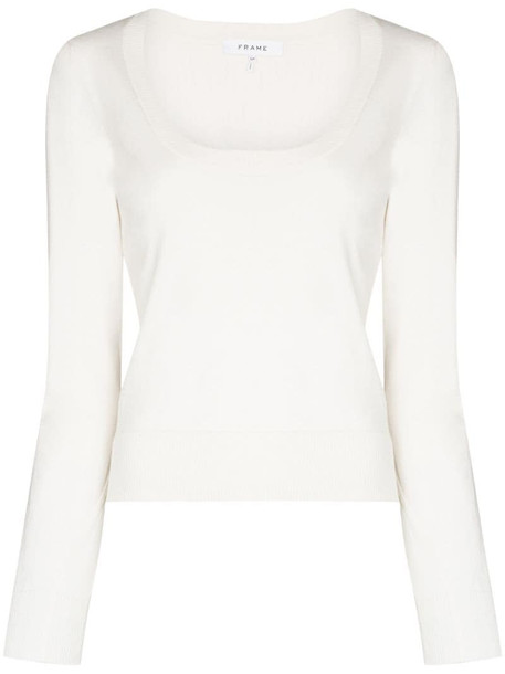 FRAME Luxe sweater in white