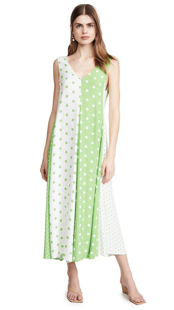Stine Goya Yara Dress in green / white