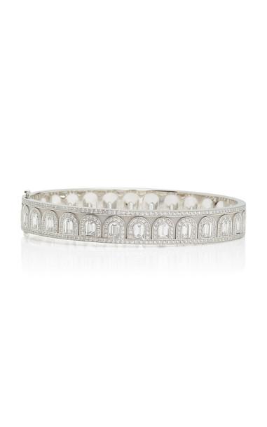 DAVIDOR L'Arc Déco Platinum Diamond Bangle in silver