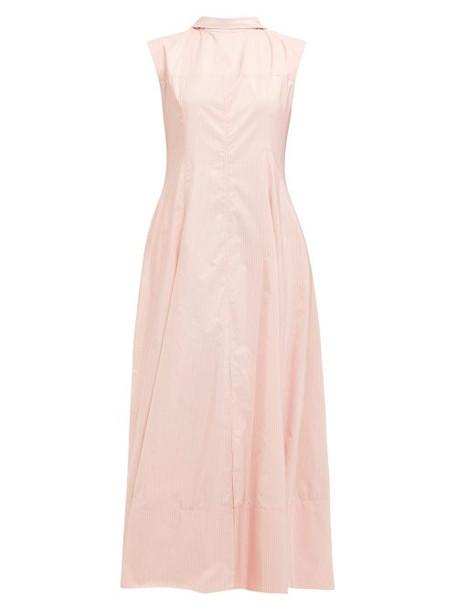 Jil Sander - Gatsby Striped V Back Dress - Womens - Pink Stripe