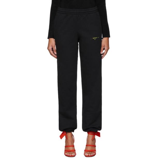 Off-White Black Acrylic Arrows Slim Lounge Pants