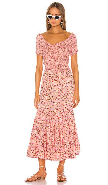 Poupette St Barth Soledad Off Shoulder Dress in Pink
