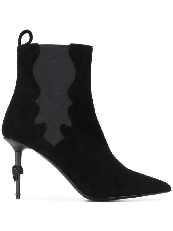 Philipp Plein skull stiletto boots in black